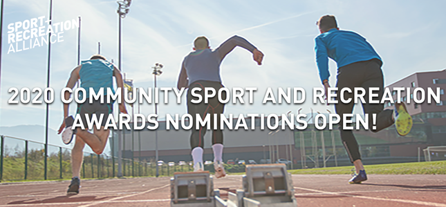 Community Sport and Recreation Awards. Nominations for the 2020 Awards are now open, nominate your local heroes! ()