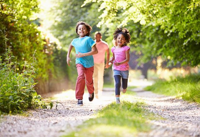 Children running ()